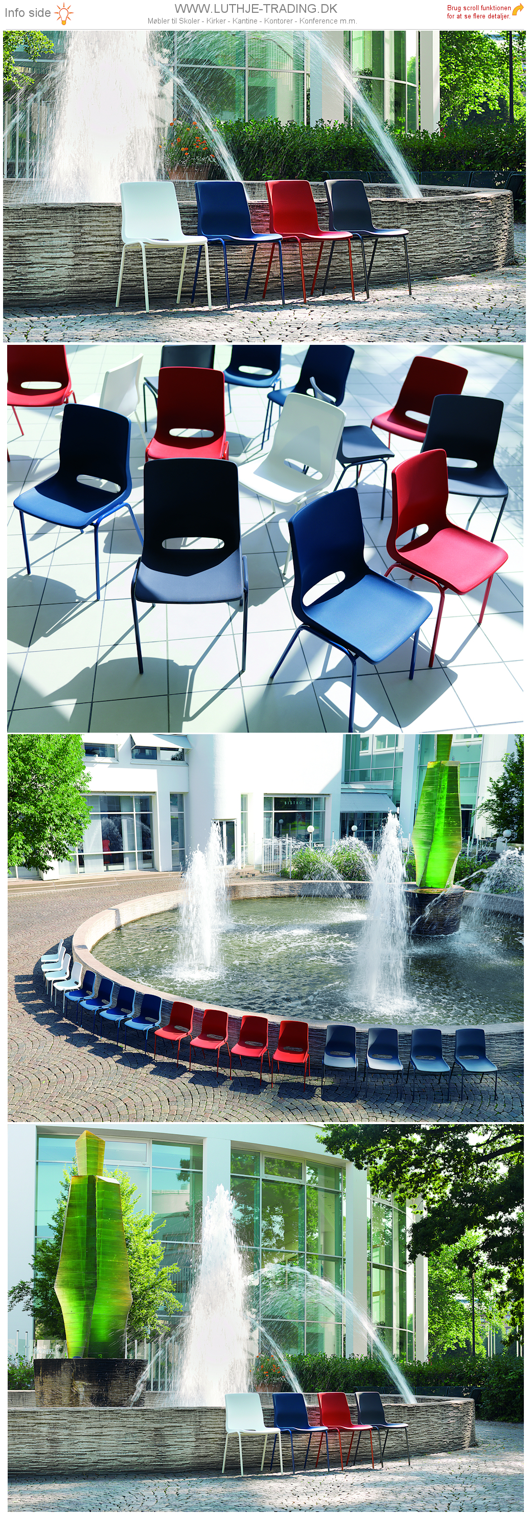 Ana stol med ensfarvet stel og plastskal. Vi giver gerne det bedste tilbud på en Ana stol.