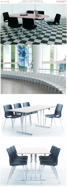 Ana stol i forskellige opstillinger. Vi giver gerne det bedste tilbud på en Ana stol.